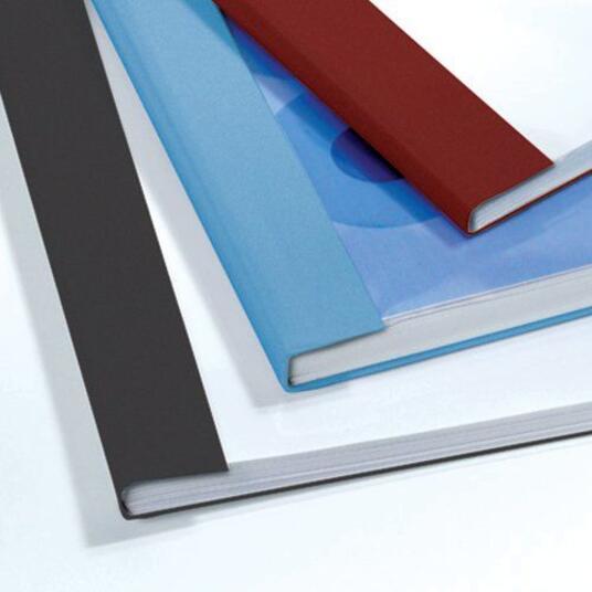 GBC Copertine rilegatura termica LeatherGrain 4mm blu royal(100) - 4