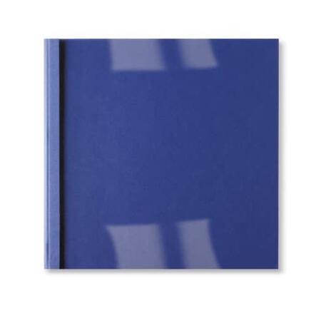 GBC Copertine rilegatura termica LeatherGrain 4mm blu royal(100) - 5