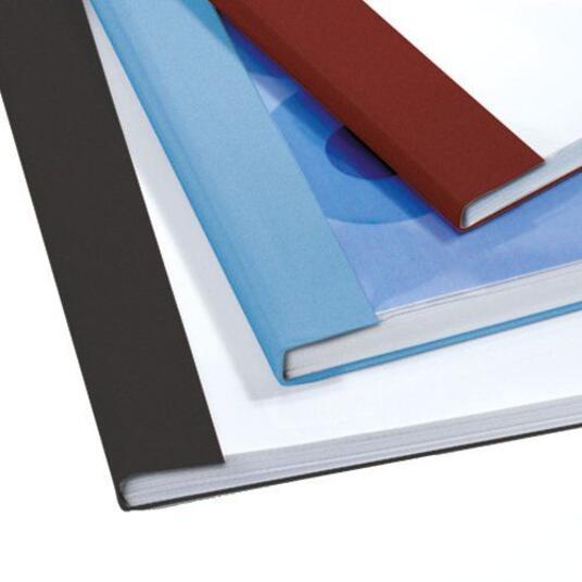 GBC Copertine rilegatura termica LeatherGrain 4mm blu royal(100) - 7