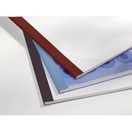 GBC Copertine rilegatura termica LeatherGrain 4mm blu royal(100) - 9