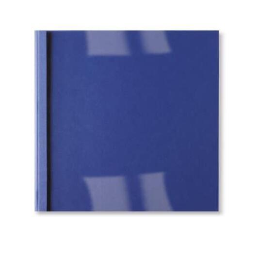 GBC Copertine rilegatura termica LeatherGrain 6mm blu royal(100) - 2