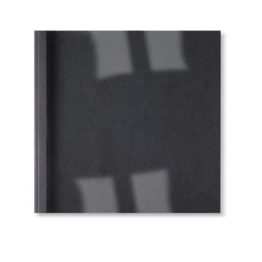 GBC Copertine rilegatura termica LeatherGrain 1,5 mm nere (100) - 2