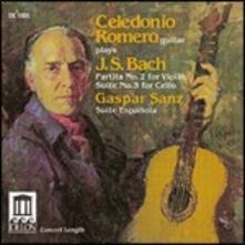 Partita BWV1004 - Suite BWV1009 / Suite - CD Audio di Johann Sebastian Bach,Gaspar Sanz,Celedonio Romero