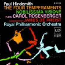 I quattro temperamenti - Nobilissima visione - CD Audio di Paul Hindemith,Royal Philharmonic Orchestra,James De Preist,Carol Rosenberg