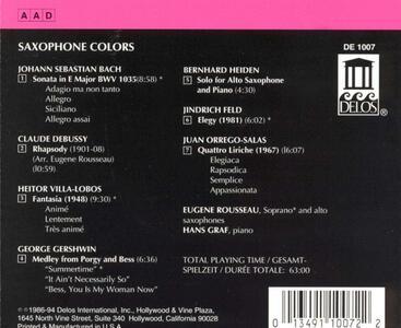 Saxophone Colors - CD Audio di Hans Graf