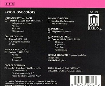 CD Saxophone Colors  1