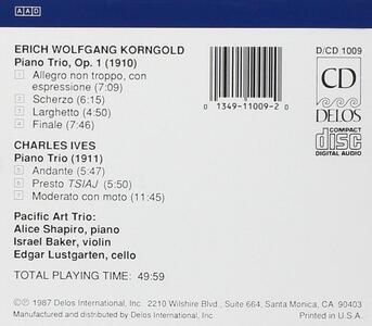 Piano Trio Op.1 - CD Audio di Erich Wolfgang Korngold