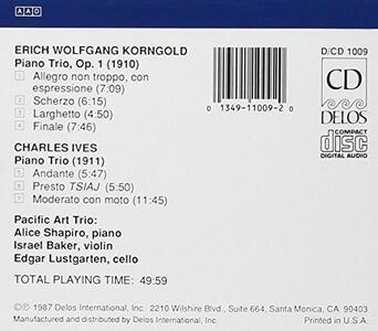 Piano Trio Op.1 - CD Audio di Erich Wolfgang Korngold - 2