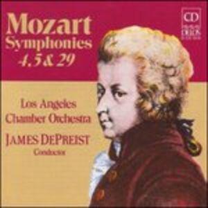 CD Sinfonie n.4 K 19, n.5 K 22, n.29 K 201 di Wolfgang Amadeus Mozart