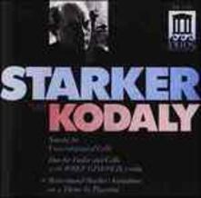 Sonata per Violoncello Op.8, Duetto Op.7 (Estratti) - CD Audio di Zoltan Kodaly,Janos Starker
