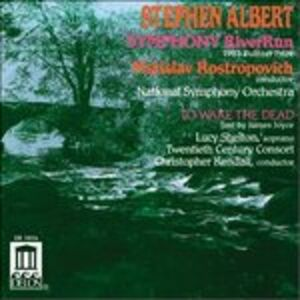 Foto Cover di Sinfonia Riverrun, to Wake the Dead, CD di Mstislav Rostropovich,Stephen Albert, prodotto da Delos
