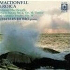 Foto Cover di Sonata Eroica in Sol Minore, 12 Studi Op.46, CD di Edward MacDowell, prodotto da Delos