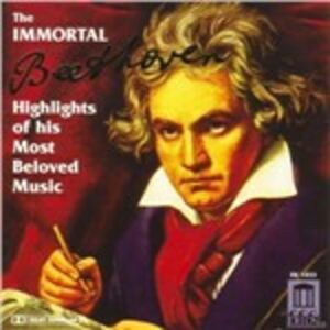 Foto Cover di Immortal Beethoven. Highlights of His Most Beloved Music, CD di Ludwig van Beethoven, prodotto da Delos