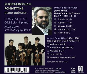 CD Quintetto per Pianoforte in Sol Minore Op.57 di Dmitri Shostakovich 1
