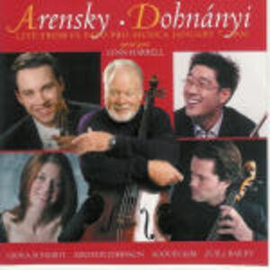 CD Serenata / Quartetto per archi n.2 Anton Stepanovich Arensky , Erno Dohnanyi