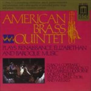 American Brass Quintet Interpreta Musica Barocca, Elisabettiana e Rinascimentale - CD Audio
