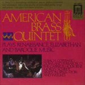 Foto Cover di American Brass Quintet Interpreta Musica Barocca, Elisabettiana e Rinascimentale, CD di  prodotto da Delos