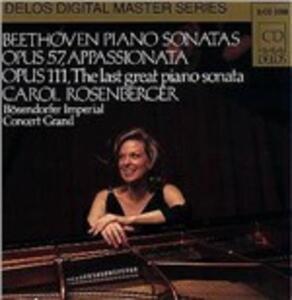 Sonate per pianoforte n.23, n.32 - CD Audio di Ludwig van Beethoven,Carol Rosenberg