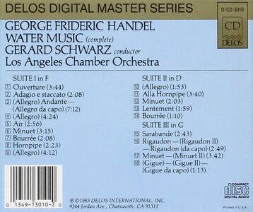 CD Water Music di Georg Friedrich Händel 0