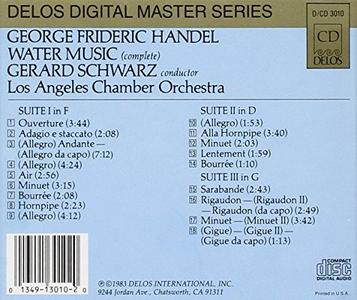 CD Water Music di Georg Friedrich Händel 1