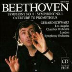 Foto Cover di Sinfonie n.1, n.8, CD di Ludwig van Beethoven, prodotto da Delos