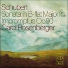 Sonata per pianoforte D960 - Improvvisi - CD Audio di Franz Schubert