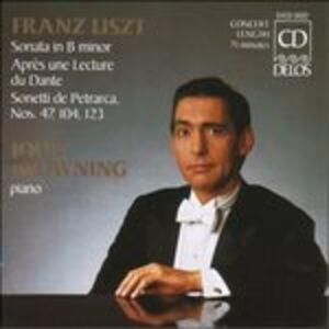 CD Sonata per Pianoforte S178-r21, Sonettidel Petrarca Nn.47, 104, 123 di Franz Liszt