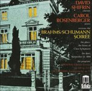 CD Sonate per Clarinetto Nn.1 e 2 Op.120 di Johannes Brahms