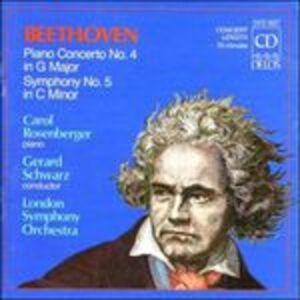 CD Sinfonia n.5 - Concerto per pianoforte n.4 di Ludwig van Beethoven