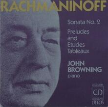 Sonata per Pianoforte n.2 Op.36, Preludi Op.23 (Estratti) - CD Audio di Sergej Vasilevich Rachmaninov