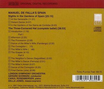 CD Notti Nei Giardini di Spagna, Il Cappello a Tre Punte di Manuel De Falla 0