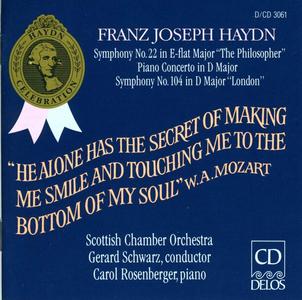 CD Sinfonie n.22, n.104 - Concerto per pianoforte n.2 di Franz Joseph Haydn