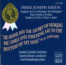 Sinfonie n.22, n.104 - Concerto per pianoforte n.2 - CD Audio di Franz Joseph Haydn