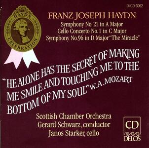 Sinfonie n.21, n.96 - Concerto per violoncello n.1 - CD Audio di Franz Joseph Haydn
