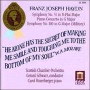 Foto Cover di Sinfonie n.51, n.100 - Concerto per pianoforte n.5, CD di Franz Joseph Haydn, prodotto da Delos