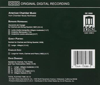 Musica da Camera Americana - Souvenirs De Voyage - CD Audio di Bernard Herrmann