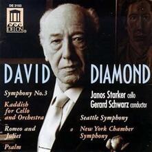 Sinfonia n.3 - CD Audio di Janos Starker,David Diamond,Gerard Schwarz,Seattle Symphony Orchestra
