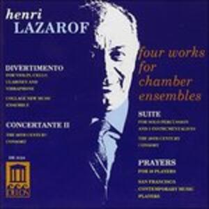 Divertimento per Clarinetto, Vibrafono, Violino e Violoncello - CD Audio di Henri Lazarof