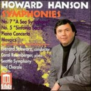 "Foto Cover di Sinfonia n.7 ""a Sea Symphony"", n.5 ""sinfonia Sacra"" Op.43, CD di Howard Hanson,Gerard Schwarz, prodotto da Delos"