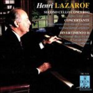 CD Secondo Concerto per Violoncello, Concertante per 16 Archi e 2 Corni Francesi di Henri Lazarof