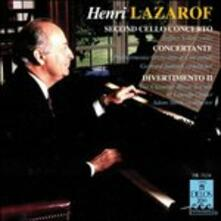 Secondo Concerto per Violoncello, Concertante per 16 Archi e 2 Corni Francesi - CD Audio di Henri Lazarof