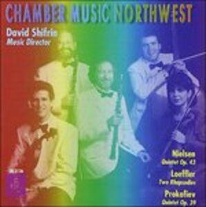 Foto Cover di Quintetto per Fiati Op.43 Fs 100, CD di Carl August Nielsen,David Shifrin, prodotto da Delos
