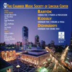 Sonata per Due Pianoforti e Percussioni Bb 115 - CD Audio di Bela Bartok