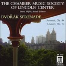 Serenata Op.44 B77, Quintetto per Archi Op.77 B49 - CD Audio di Antonin Dvorak