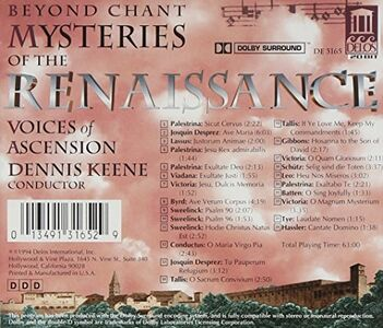 CD Beyond Chant - Mysteries of the Renaissance  1