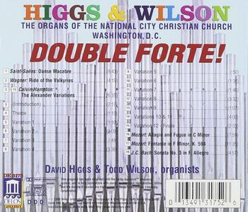 Double Forte! - the Organs of the National City Christian Church, Washington dc - CD Audio - 2