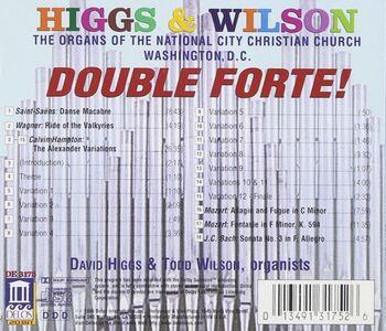 CD Double Forte! - the Organs of the National City Christian Church, Washington dc  1