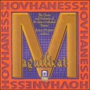 Foto Cover di Magnificat Op.157, Sinfonia n.12 Op.188, 4 Mottetti Op.246, CD di Alan Hovhaness, prodotto da Delos