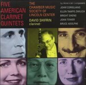 Foto Cover di Five American Clarinet Quintets, CD di David Shifrin, prodotto da Delos