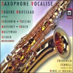 Foto Cover di Saxophone Vocalise, CD di Eugene Rousseau, prodotto da Delos